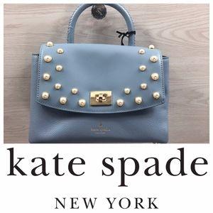 Kate Spade Shonna Serrano Place Pearl Satchel Blue